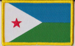 Djibouti Embroidered Flag Patch, style 08.